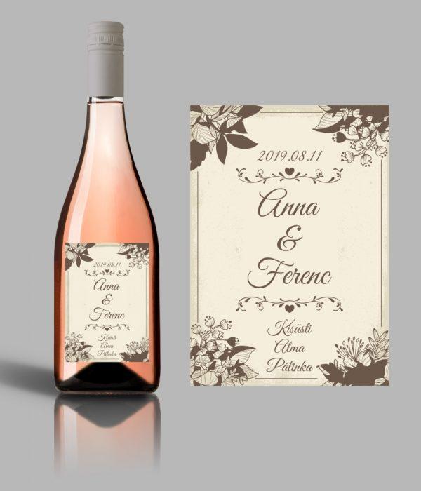 Bloom esküvői címke