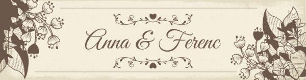 Love esküvői nyak címke