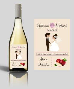 Fancy esküvői címke