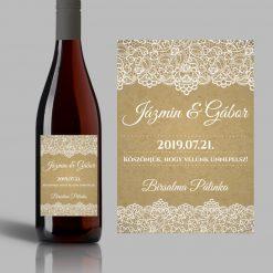 Felicidad esküvői címke