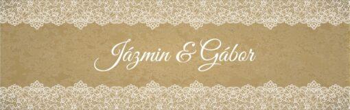 Felicidad esküvői nyak címke