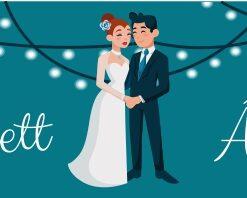 Festino esküvői nyak címke