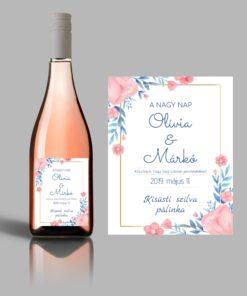 Flower esküvői címke