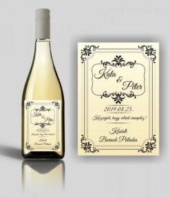 Goldenlight esküvői címke