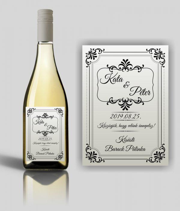 Silverlight esküvői címke