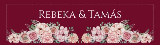 Wish esküvői nyak címke