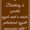 Brownish boros hát címke