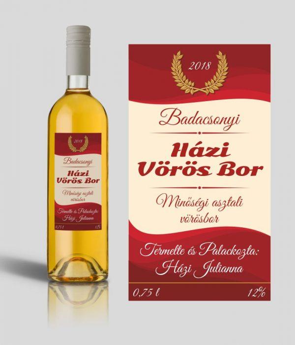 Rosado boros címke