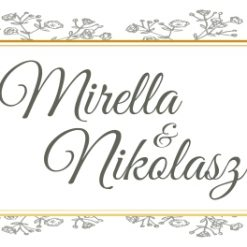 Éclore esküvői nyak címke