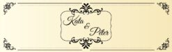 Goldenlight esküvői nyak címke